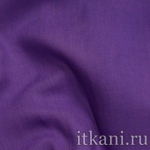 Ткань Штапель однотонный, цвет фиолетовый (1524)