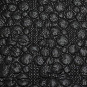 Ткань Курточная Стеганая, цвет черный (5654)