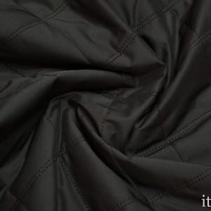 Ткань Курточная Стеганая, цвет черный (5662)