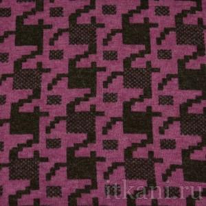 Ткань Трикотаж, узор гусиная лапка (0027)