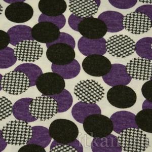 Ткань Трикотаж, узор горошек (0028)