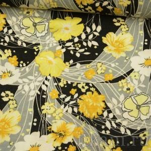 Ткань Трикотаж, узор цветочный (0031)