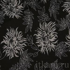 Ткань Трикотаж, узор цветочный (0061)