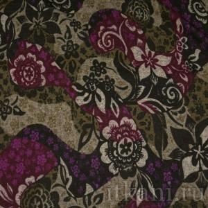 Ткань Трикотаж, узор цветочный (0062)
