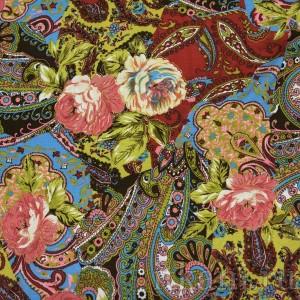 Ткань Трикотаж, узор цветочный (0076)
