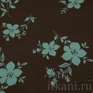 Ткань Трикотаж, узор цветочный (0088)