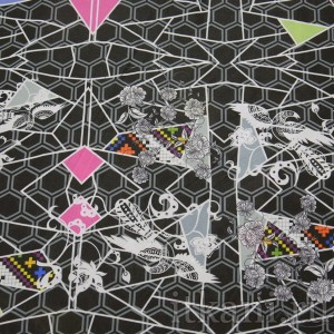 Ткань Трикотаж, узор абстрактный (0097)