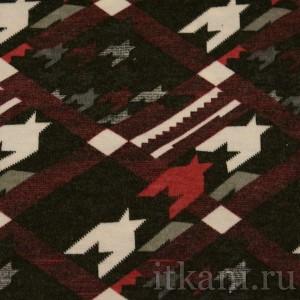 Ткань Трикотаж, узор гусиная лапка (0110)