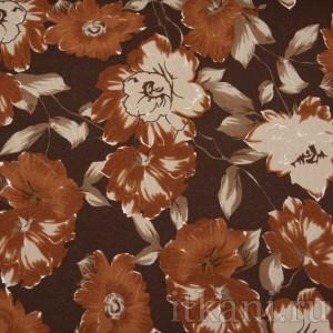 Ткань Трикотаж, цвет коричневый (0114)