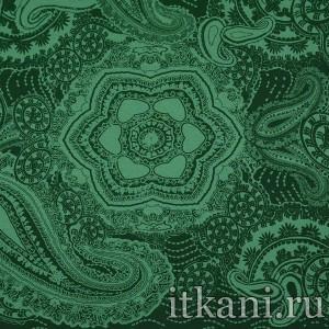 Ткань Трикотаж принтованный, узор турецкий огурец (1591)