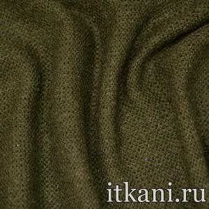Ткань Трикотаж Вязаный, цвет зеленый (2762)
