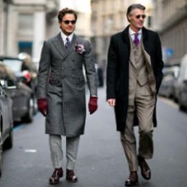 Мужская мода на улицах Милана