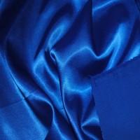 Ткань Атлас стрейч плотный Синий