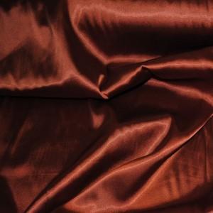 Ткань Атлас стрейч плотный Коричневый, цвет коричневый (i269)