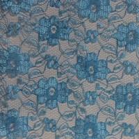 """Ткань Гипюр """"Голубой"""""""