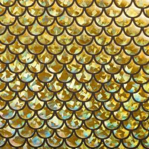Голограмма Чешуя 150 г/м2, цвет золотой (9962)