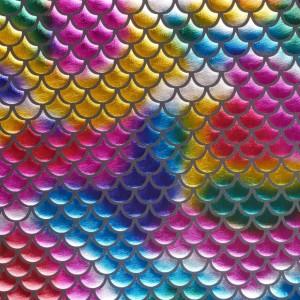 Голограмма Чешуя 150 г/м2, узор абстрактный (9963)