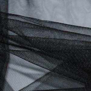 """Сетка мягкая (Фатин)  """"Черная"""", цвет черный (i389)"""