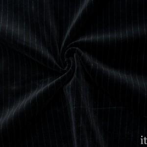 Велюр-стрейч 310 г/м2, цвет черный (8875)