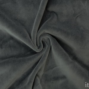 Велюр стрейч 330 г/м2, цвет серый (8898)