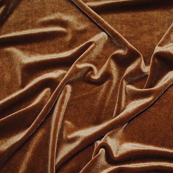 """Ткань Бархат-стрейч """"Коричневый"""" коричневый производитель Корея ..."""
