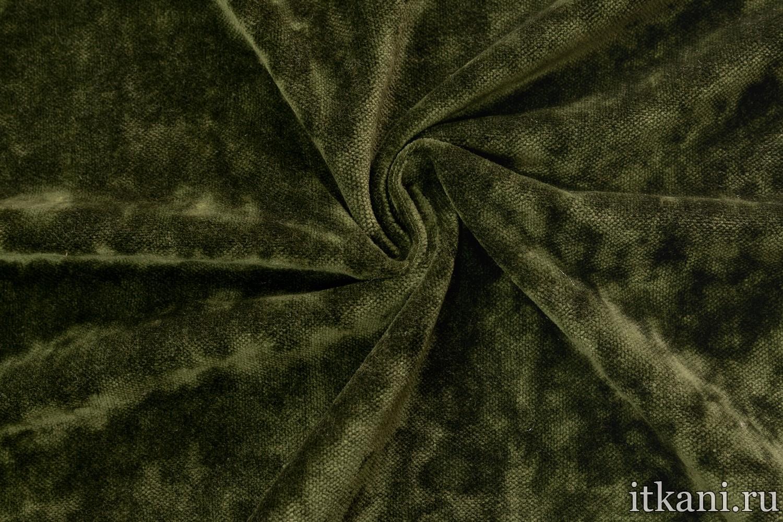 Мебельный велюр зеленый портьерная ткань жозефина